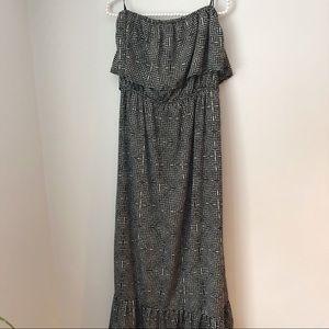 One Clothing Sleeveless Ruffle Black Maxi Dress